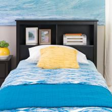 Black Twin Bookcase Headboard