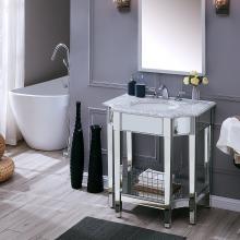 Emmavale Mirrored Vanity Sink - Contemporary Style