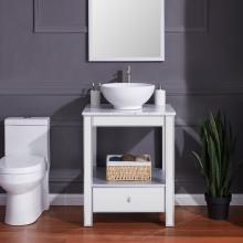 Donniford Mirrored Vanity Sink - Contemporary Style