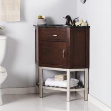 Karstark Corner Bath Vanity Sink w/ Marble Top