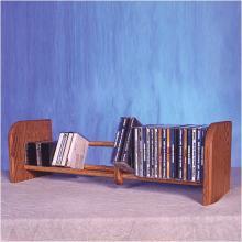 Solid Oak 1 Row Dowel CD Rack
