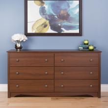 Cherry Monterey 6 Drawer Dresser