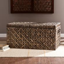 Water Hyacinth Storage Trunk - Blackwashed