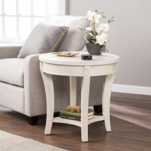 Laverley Traditional Round End Table - Whitewash