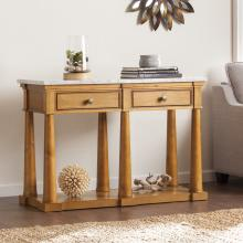 Grandview Faux Marble Console Table