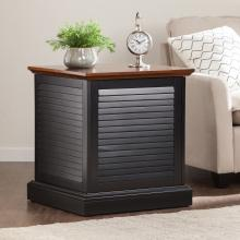 Abram Louvered Trunk End Table