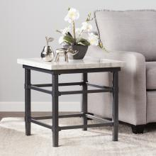 Tulane Faux Marble End Table