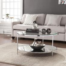 Risa Cocktail Table - Glam Style - Chrome