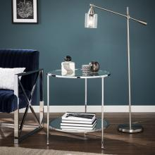 Risa End Table - Glam Style - Chrome