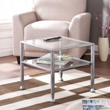Metal/Glass Cocktail Table - Silver