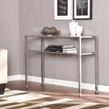 Metal/Glass Console Table - Silver