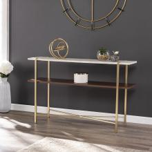 Ardmillan Faux Marble Console Table w/ Storage