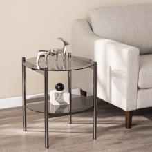 Glenwald Round End Table w/ Glass Top