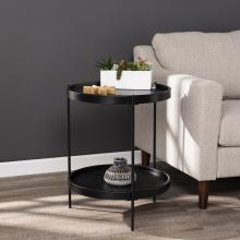 Verlington Round Farmhouse Style End Table