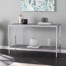 Lyrran Faux Concrete Console Table