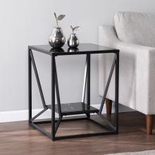 Argall Square Glass-Top End Table