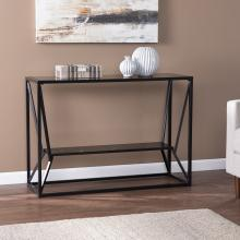 Argall Long Glass-Top Console Table