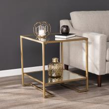 Horten Square Glass-Top End Table