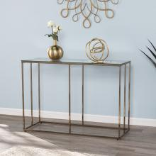 Nicholance Contemporary Glass-Top Console Table