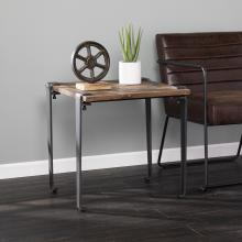 Talvern Square Reclaimed Wood End Table