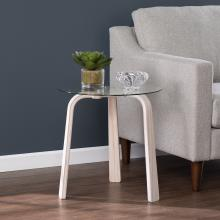 Anwick Round Glass-Top End Table