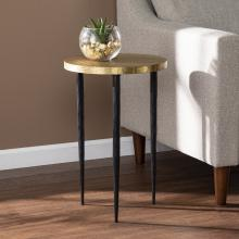 Judmont Round End Table w/ Embossed Top