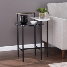 Arcklid Faux Marble End Table w/ Storage