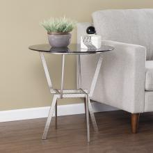 Kirben Round Glass-Top End Table