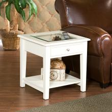 Panorama End Table - Off-White