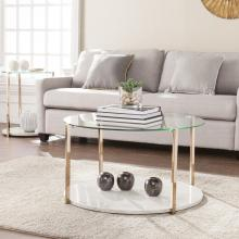 Avenida Cocktail Table - Glam Style - Warm Gold