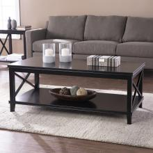 Larksmill Two-Tier Wood Coffee Table - Black