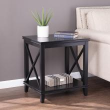 Larksmill Tall Black End Table