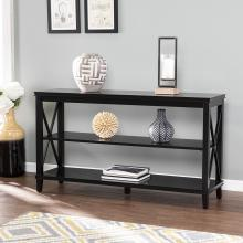 Larksmill Black Console Table w/ Storage