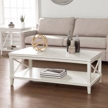 Larksmill Two-Tier Wood Coffee Table - White