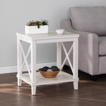 Larksmill Tall White End Table