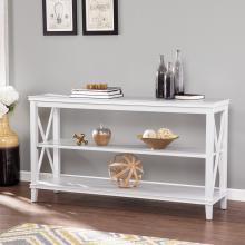 Larksmill White Console Table w/ Storage