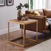 Dorville Reclaimed Wood Patchwork End Table