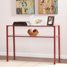 JAYMES METAL/GLASS CONSOLE - RED
