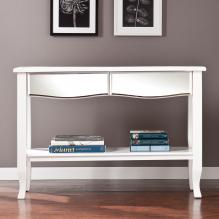 Marceline Mirrored Console Table - White