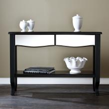 Marceline Mirrored Console Table - Black