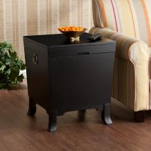 Hayden End Table Trunk - Black