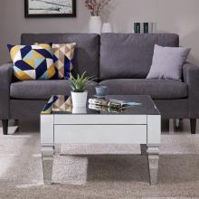 Darien Square Mirrored Cocktail Table - Glam - Silver
