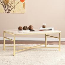 Orinda Faux Stone Cocktail Table - Travertine