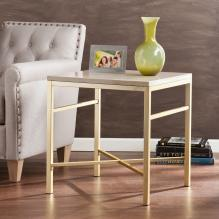 Orinda Faux Stone End Table - Travertine