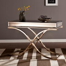 Ava Mirrored Console Table - Champagne