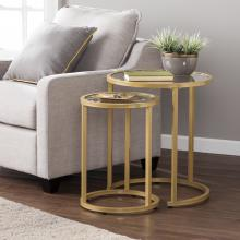 Evelyn Glam Nesting Side Table 2pc Set - Gold