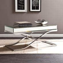 Ava Mirrored Cocktail Table - Chrome