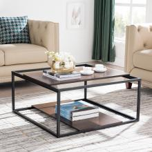 Decklan Sliding Shelf Coffee Table