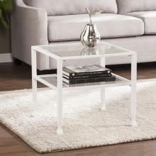 Jaymes Metal/Glass Bunching Cocktail Table - White