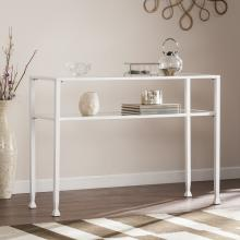 Jaymes Metal/Glass Console Table - White